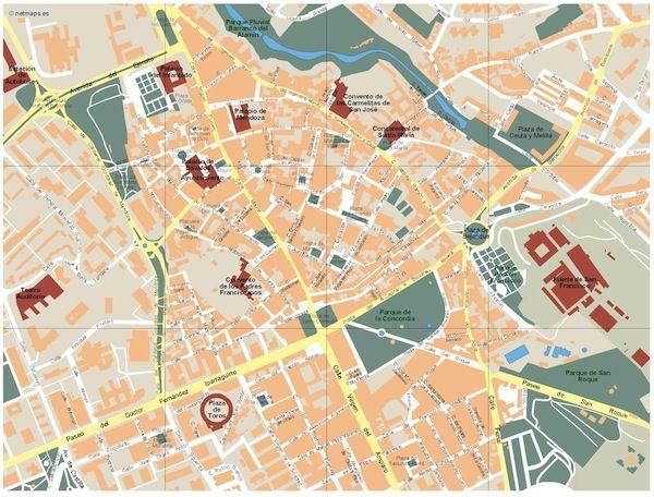 Mapa Guadalajara Vectorial. Formatos Vector Freehand