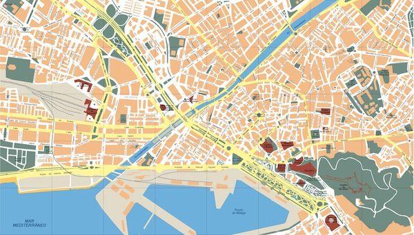 Mapa Turistico De Malaga.Mapa Malaga Centro Detraiteurvannederland