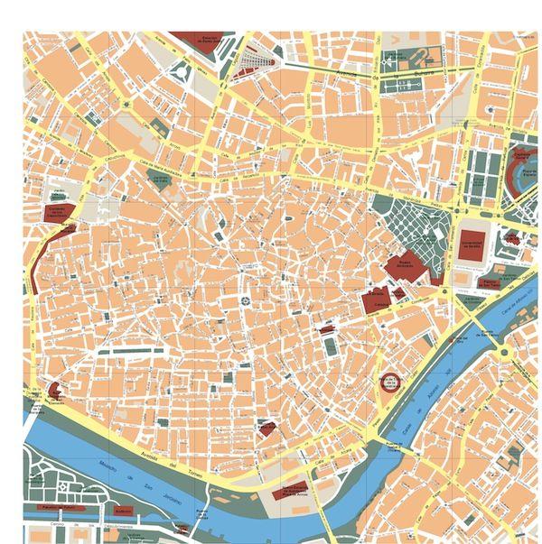 Mapa Sevilla Vectorial. Formatos Vector Freehand
