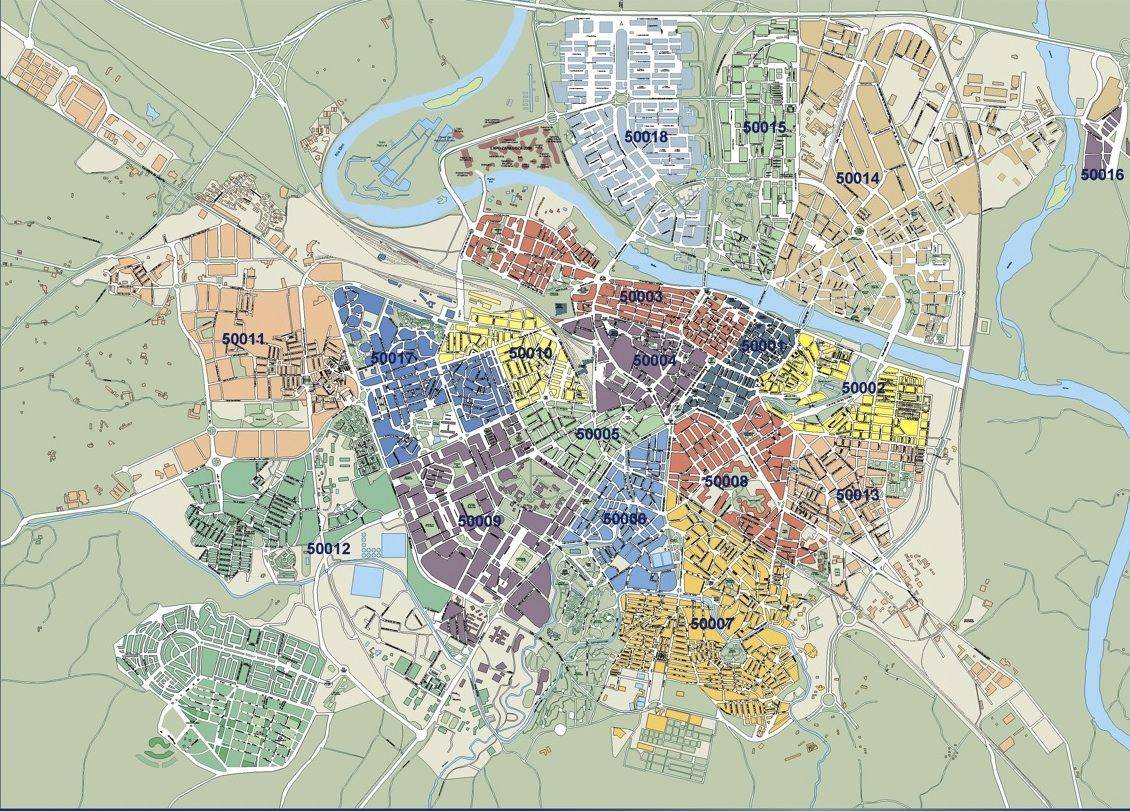 Zaragoza mapa callejero
