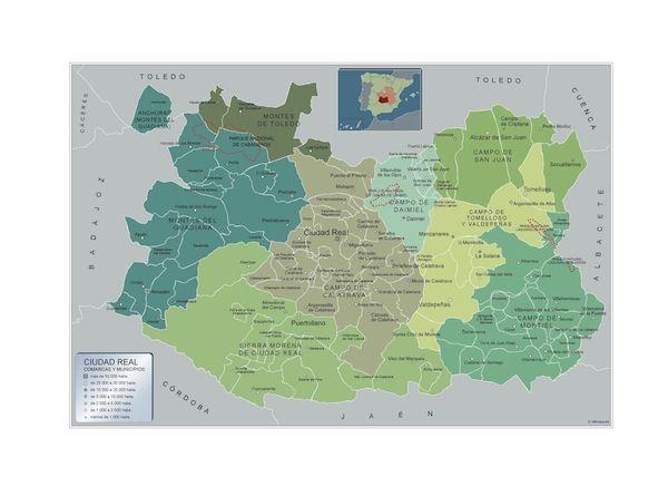 mapa municipios Ciudad Real