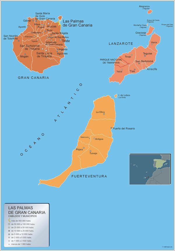 mapa municipios Las Palmas