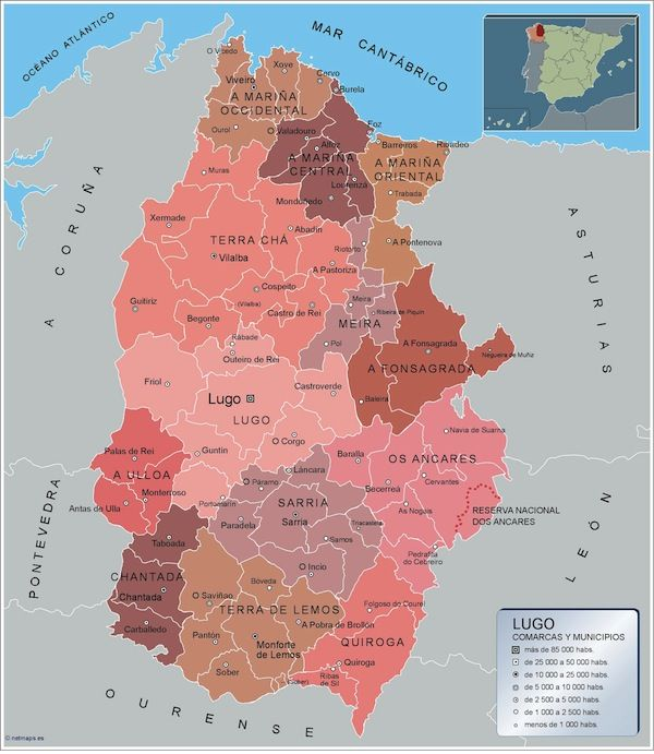 mapa municipios Lugo