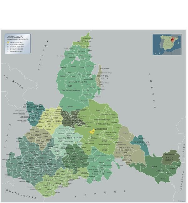 mapa municipios Zaragoza