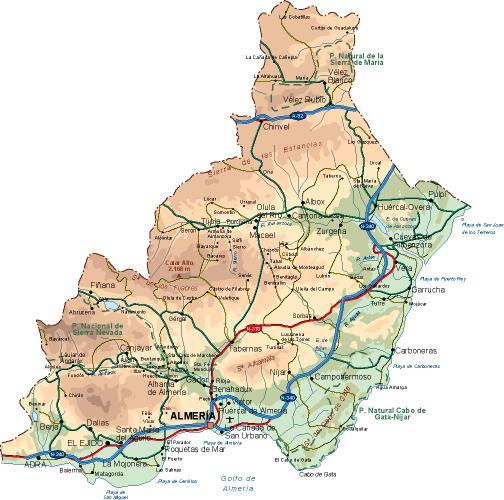 mapa provincia Almeria