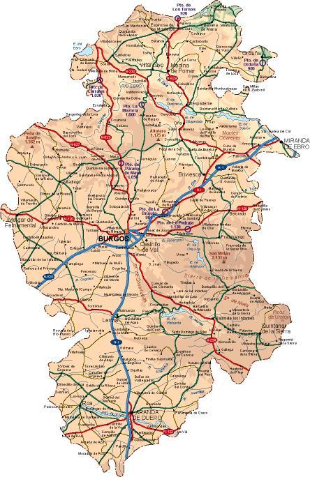 mapa provincia Burgos