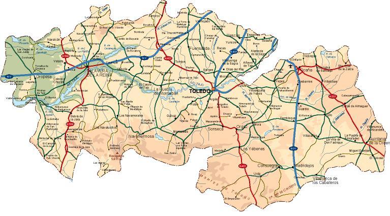 mapa provincia Toledo